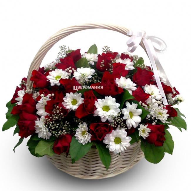 Вырастить розы, купить корзину из цветы недорого в новосибирске